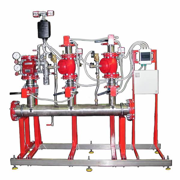 установка автоматического водяного или пенного пожаротушения