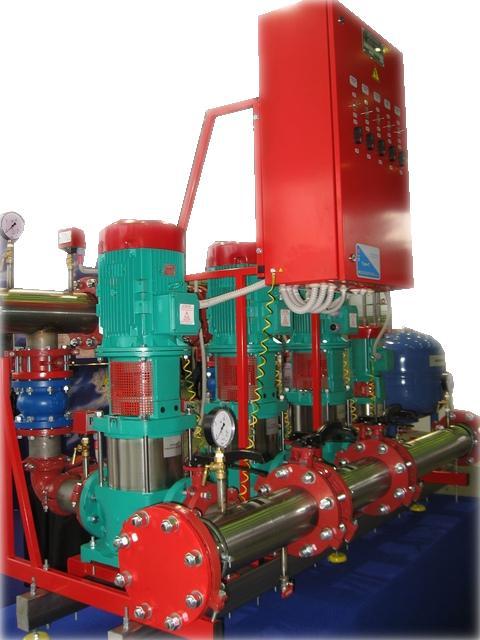 Моноблочная насосная станция для систем пожаротушения и водоснабжения СПРУТ-НС на немецких насосах Wilo.